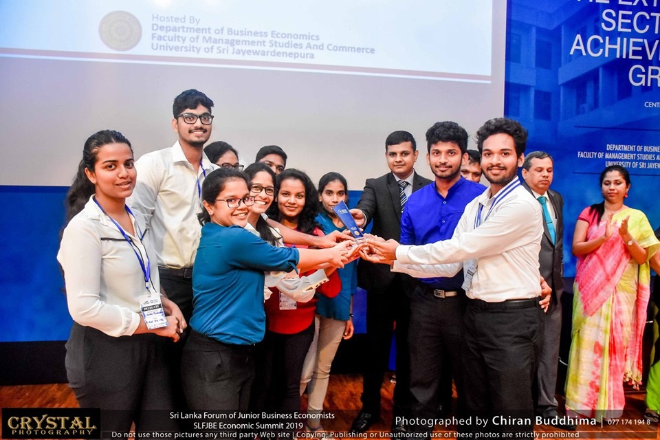 Faculty of Business University of Moratuwa emerged champions at the very first Sri Lanka Forum of Junior Business Economists (SLFJBE)