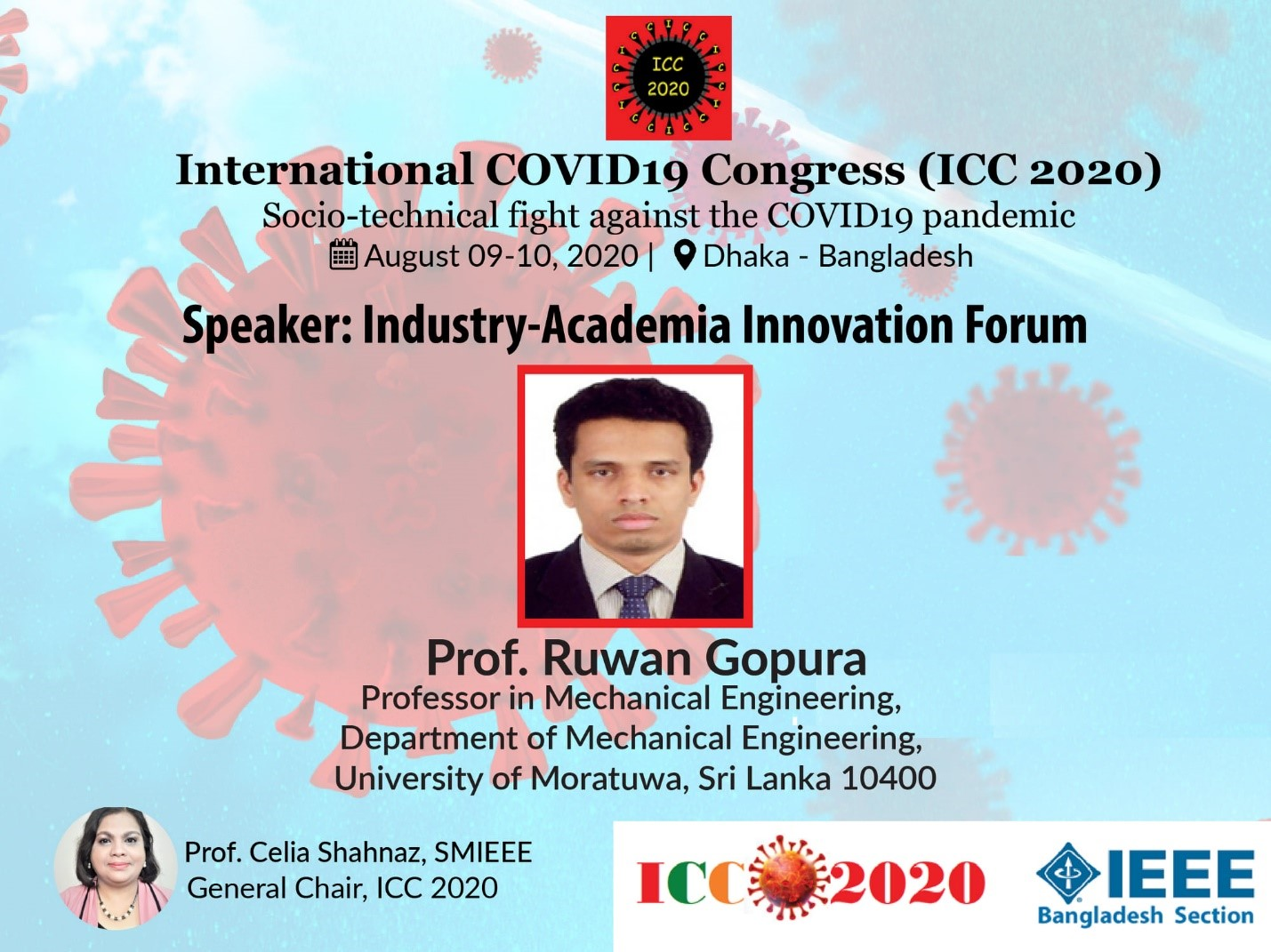 Speaker of the International COVID 19 Congress 2020