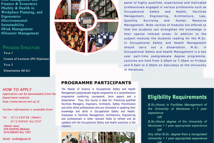 Msc /PG Diploma in OSH Management Programme