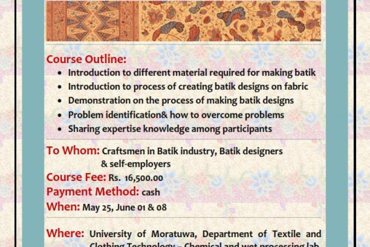 Workshop on Application and Knowledge Sharing in Batik Techniques