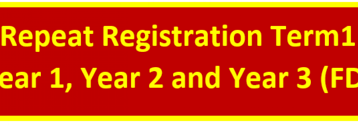 FD Repeat Registration Term 1 Year 1, Year 2 and Year 3