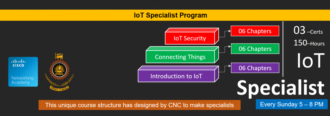 This unique course structure has designed by CNC to make IoT specialists