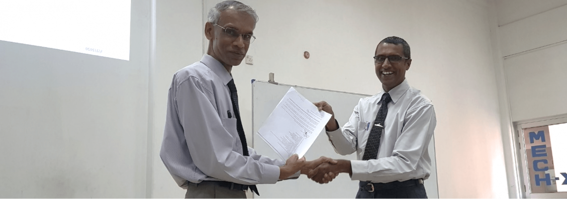New HoD Appointment Dr. Himan Punchihewa