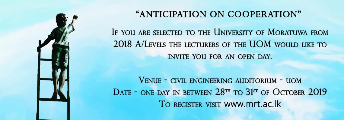Registration for Open Day 2019