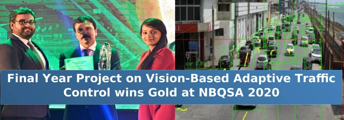 Final Year Project on Vision-Based Adaptive Traffic Control wins Gold at NBQSA 2020