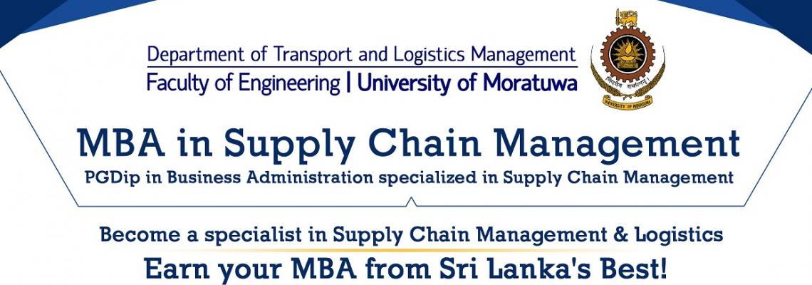 MBA IN SUPPLY CHAIN/ PG DIPLOMA