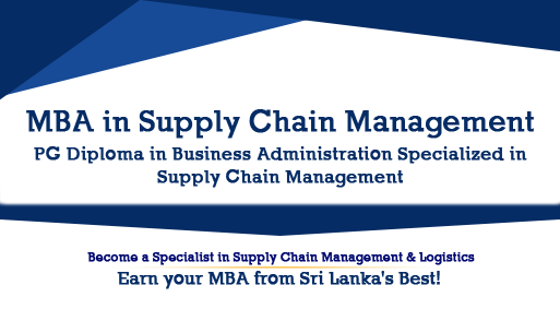 MBA/PGDIP IN SUPPLY CHAIN MANAGEMENT